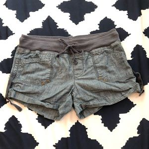 GAP Tie Waist Chambray Shorts